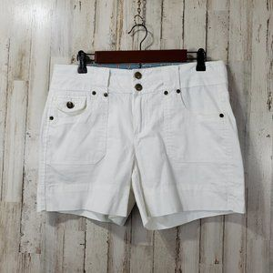 One 5 One Womens Shorts 10 White Casual 5 Pocket